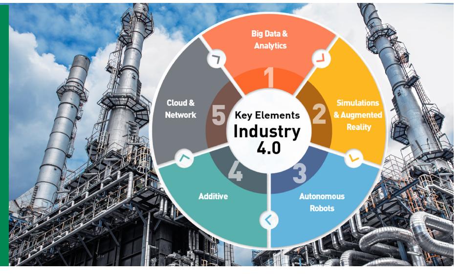 תעשייה 4.0 – רכיבי מפתח: ביג דאטה ואנליטיקות, סימולציות ומציאות רבודה, רובוטים אוטונומיים, תוספים, ענן ורשת